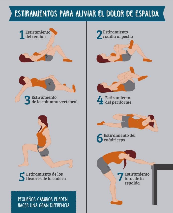 causas del dolor de espalda: ejercicios de estiramiento