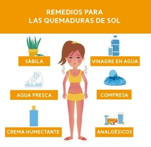 Remedios contra las quemaduras de sol