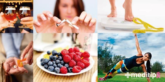 alimentación saludable para prevenir cáncer de seno