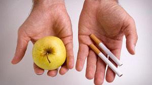 ¿manzana o cigarros?