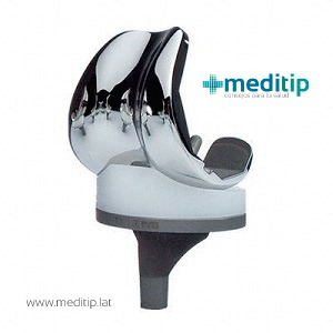 prótesis de rodilla de plataforma giratoria