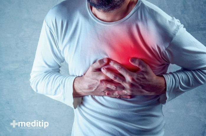 Hombre sufriendo ataque al corazón