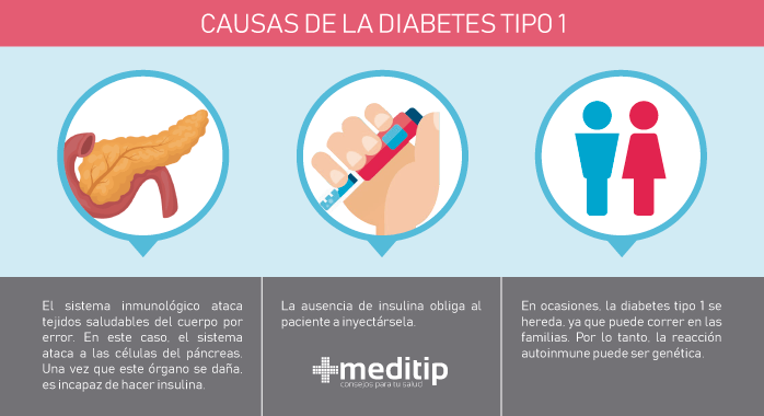 Diabetes tipo 1: causas, diagnóstico y tratamiento - Meditip