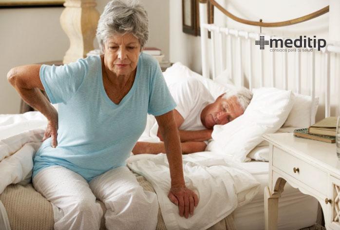 Persona con osteoporosis