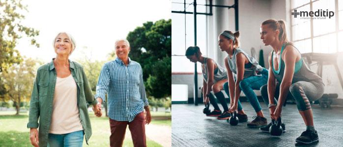 Diferencia entre actividad física y ejercicio
