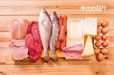 Alimentos con proteína animal