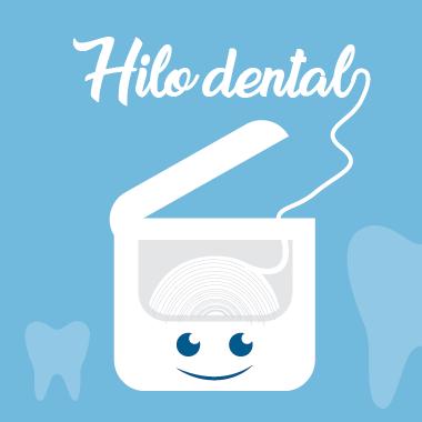 Ilustración de hilo dental