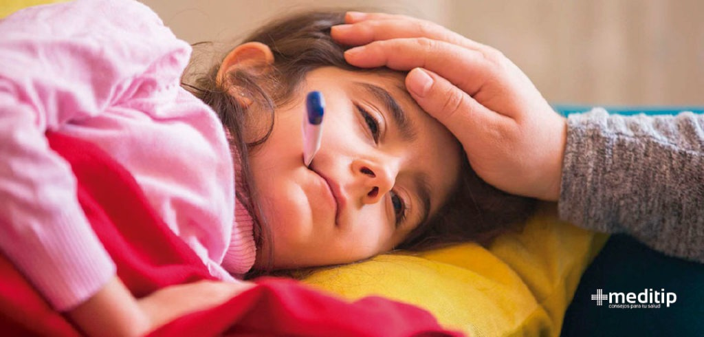 Complicaciones de la malaria: niña con fiebre