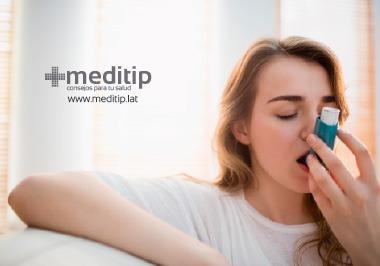 Ataque de asma: inhalador