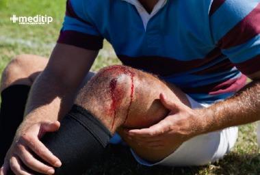 Heridas y lesiones en deportistas: herida en la rodilla