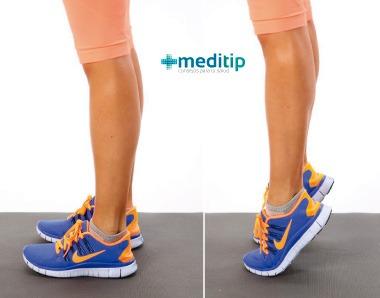 Fisioterapia de tobillo: elevación de pantorrillas