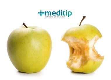 Oxidación: oxidación de una manzana por radicales libres