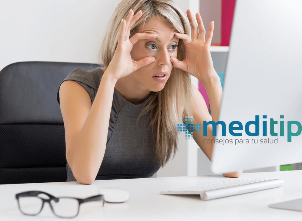 Salud visual: problemas de la vista por el uso de computadora