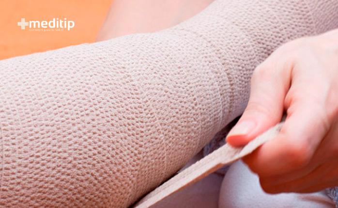 Tratamiento del linfedema: vendaje multicapa, vendaje de compresión para el linfedema