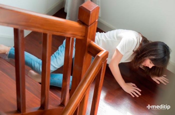 Complicaciones de la epilepsia: lesión por caída durante crisis epiléptica o convulsión