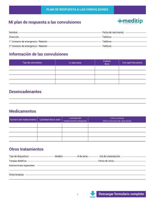 Primeros auxilios para crisis epilépticas: descargar plan de respuesta a convulsiones