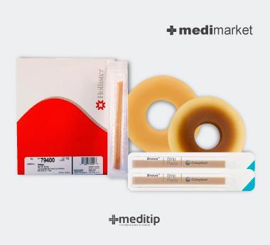 Medimarket, productos para el cuidado de una ostomía: tiras de barrera cutánea y anillos hidrocoloides