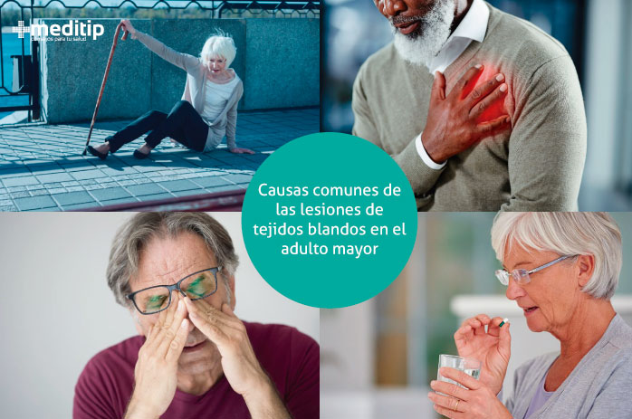 Causas de lesiones de tejidos blandos en el adulto mayor