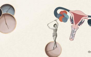 ilustración pérdida de la reserva ovárica: Collage de Aurora Quiterio