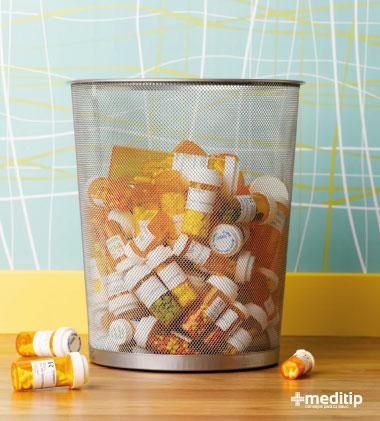 Bote de basura con pastillas: resistencia antimicrobiana en tiempos de Covid-19