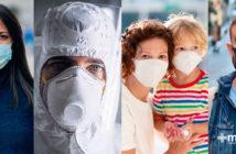 Uso correcto de cubrebocas, respiradores de alta eficiencia y mascarillas para protección contra coronavirus