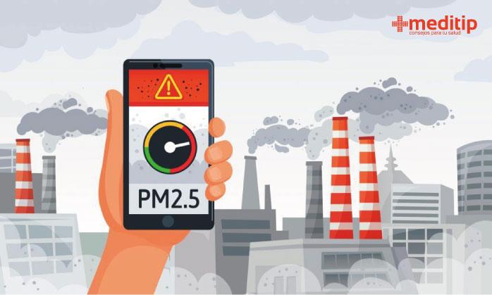 Protección contra material particulado: monitoreo de niveles de partículas PM2.5