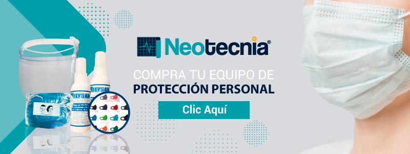 Neotecnia: Equipo de protección personal : careta, cubrebocas, solución antiséptica